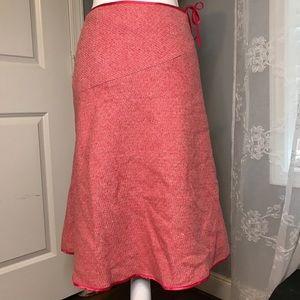 Boden Pink A- Line Wool/Silk Skirt SZ 10R